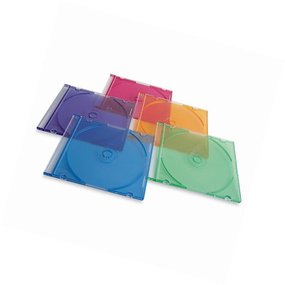 Verbatim CD/DVD Slim Jewel Assorted Color Cases - 50pk