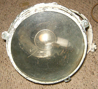 VINTAGE Heavy Duty Large Marine Boat Spotlight Lamp Light