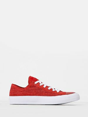 New converse Unisex Low Chuck Taylor All Star X Nike Flyknit Sneakers In Red
