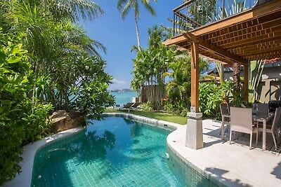Thailand Koh Samui. Beautiful 3 bed villa on the beach. From £195 to £260 p/n