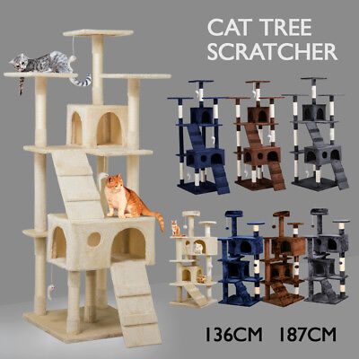 1.36M 1.87M Cat Scratching Post Tree Gym House Condo Furniture Scratcher Pole