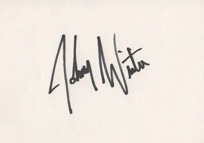 Johnny Winter Autogramm signed 10x15 cm Karteikarte