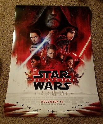Star Wars The Last Jedi Authentic ORIGINAL Double-Sided (27x40) Movie Poster