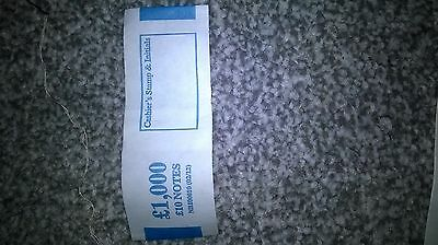 £10 (polymer note) money bands/UK currency straps (select quantity)