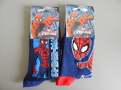 Lot 2 paires de chaussettes enfant Marvel Ultimate Spider-Man 31-34 neuves