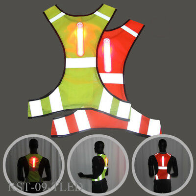 Sport Vest LED Jacket Night Reflective Running Cycling Outdoor Working Clothes .