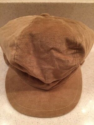 Tan Brown Cap Hat Brim 100% Cotton Soft EUC One Size Unisex Hand wash Children's