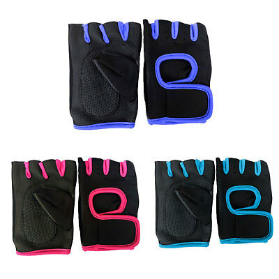 Weight Lifting Yoga Pilates Gym Sports Fitness Training Fingerless Grip Gloves