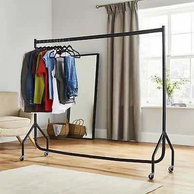 6ft Heavy Duty Clothes Rail Home Shop Garment Hanging Display Stand Rack