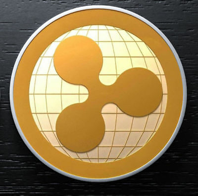 Newest Ripple Commemorative Round Collectors Coin XRP Coin is Gold Plated Coins