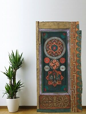Antique Cabinet Door Carved,Vintage Wood Panel Decorative Handmade (61'')