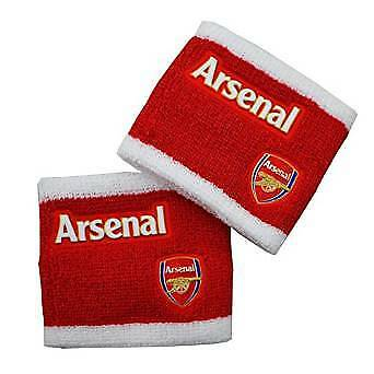 Arsenal FC Official Red White Athletic Football Crest Sport Wristbands Pack Of 2