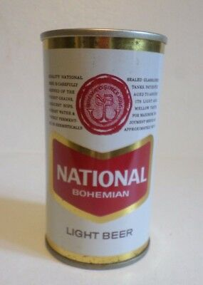 Vintage national Bohemian Light Baltimore +3 cities Straight Steel Beer Can