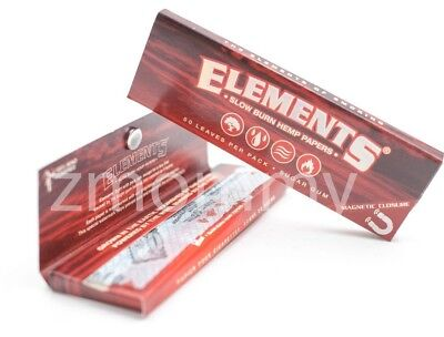 3x Packs ( Elements Red 1 1/4 1.25 ) Ultra Thin Rice Rolling Papers Paper