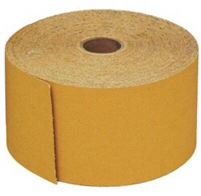"USC 87106, 80 Grit 2-3/4"" X 25yds Gold PSA Continues Roll, Long Board Sandpaper"