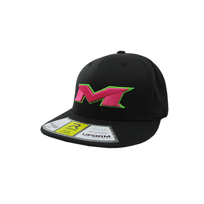 Miken Hat by Richardson (PTS30)  All Black/Neon Green/Pink SM/MD