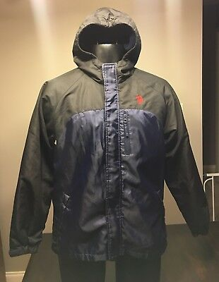 460520a97 U.S. POLO ASSN Boys Bomber Jacket Size 14-16 Black with hood ...
