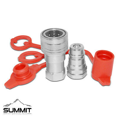 """3/8"""" NPT Ag Hydraulic Quick Connect Pioneer Style Coupler Set"""