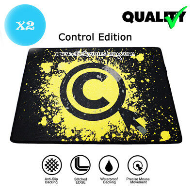 2PC Textured Weave Cloth Control Edition Mouse Pad for Razer Logitech Gaming