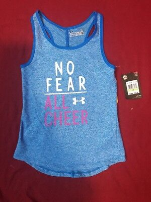 Under Armour Lot Of 2 Girls Shirts T-Shirt & Race Back Blue Lotus Top  Sz 4T NWT