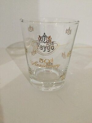 Rare Vintage Advertising Promo Glass Faygo Soda Pop 50Th Anniversary *1957 Oldie