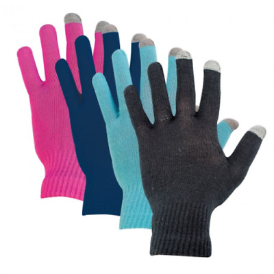 Highlander Tech Touch Gloves One Size Fits Black,Blue,Pink,Navy