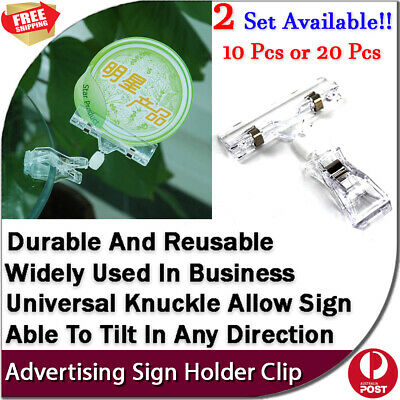 New 10/20 pcs Label Business Menu Price Name Tag Advertising Sign Holder Clip