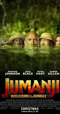 "Jumanji (2017) 11""x17"" Authentic Movie Collector's Mini Poster!! The Rock, Hart"