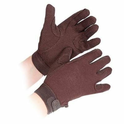 SHIRES NEWBURY gloves CHILDRENS BROWN 880C horse rider grip gloves cotton