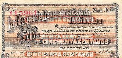 Mexico / Sinaloa  50 Centavos  2.25.1914 S 1042 Series A  Circulated Banknote