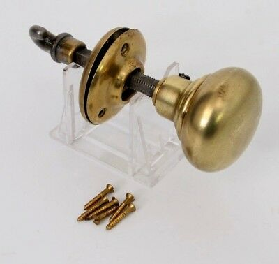 Antique Brass Closet Door Knob includes Sconce Screws Thumb Turn Latch