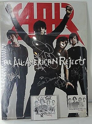 The All American Rejects Autographed Poster and CD Addressed to Sun Dome - B303