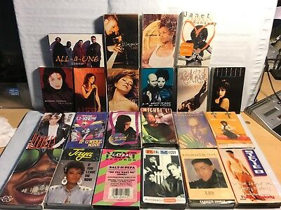vintage Lot of 22 Hip Hop R&B cassette singles 90's rare
