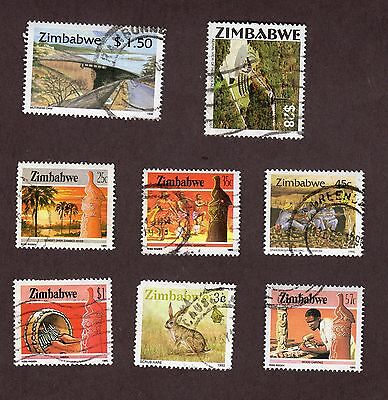 Zimbabwe stamps, 8 different, 17 stamps (L923)