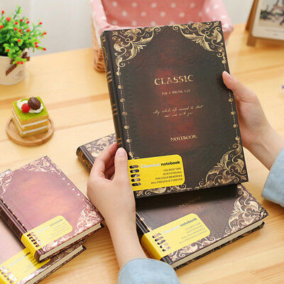 Retro Vintage Personal Notebook Diary Journal Organiser Book School Office New