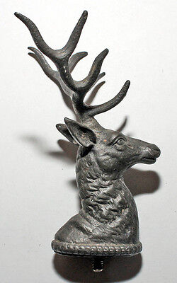 STAG HEAD WITH ANTLER DEER Tin M 5 Thread approx. 1900 Sculpture Figure
