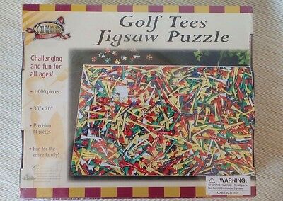 Golf Tee 1000 Piece Jigsaw Puzzle - NEW & Sealed By Club House Collection