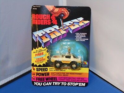 1984 LJN Rough Riders 4X4 Firebird Toy Mint On Unpunched Card! Stompers