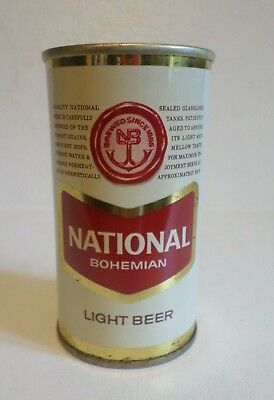 Vintage National Bohemian Light Baltimore +2 cities Straight Steel Beer Can