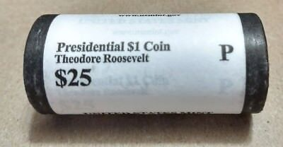"2013 P Theodore Roosevelt Presidential ""Unopened"" Mint Dollar 25 Coin ROLL"