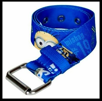 Minions Despicable Me Belt Size M/Lrg OOPS Mishap # NEW With Tags Youth Kid Boy