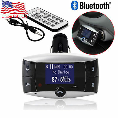 Bluetooth Wireless Modulator Car Kit FM Transmitter MP3 Player SD USB LCD Remote