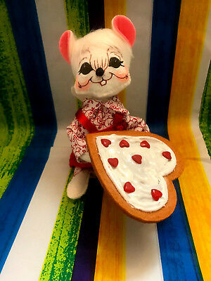 """Annalee Valentine's Day Cookie Mouse 6"""" New 2018 Tooth"""