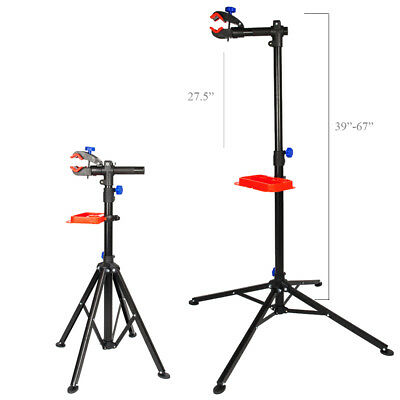 """Adjustable Pro Bike 39"""" To 67"""" Repair Stand Telescopic Arm Cycling Bicycle Rack"""