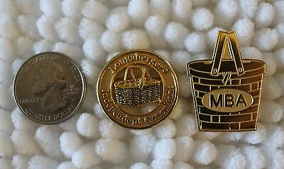 Lot of 2 Longaberger Independent Consultant Pins Pinbacks MBA Basket Pin #25136