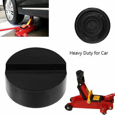 Black DIY Car SUV Slotted Frame Rail Hydraulic Floor Jack Disk Rubber Pad  US
