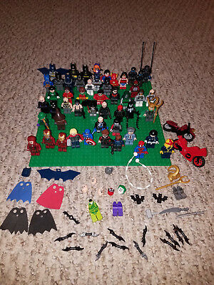 50 Lego Marvel & Dc Super Heroes Minifigures Batman Superman Spider-Man Ironman