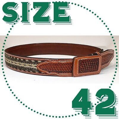 Cinto Belt With Horse Hair Mexican Charro Belt Western Cowboy Vaquero Fajo
