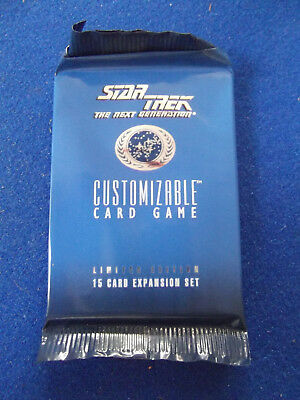 1994 Premiere Limited Booster Pack Star Trek CCG card game Decipher Black Border