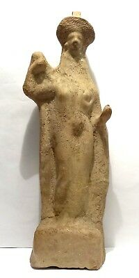 Grande Statuette Grecque - South Italy 400/200 Bc - Ancient Greek Tanagra Figure